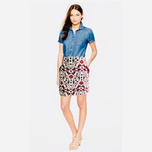 Joe Boxer Floral Mini Skirt Stretch Pockets M